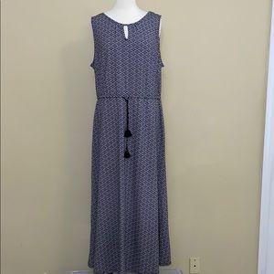 Women's Izod Print Fit & Flare Maxi Dress New